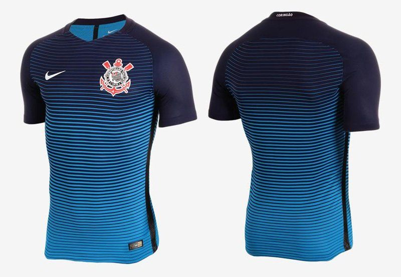 Terceira camisa do Corinthians 2016-2017 Nike Azul kit 768550a6c69bc
