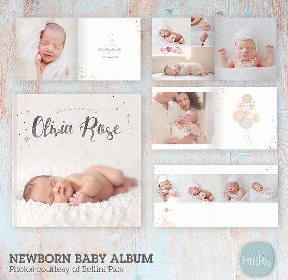 Baby Photo Album Template Newborn Photography Newborn Album