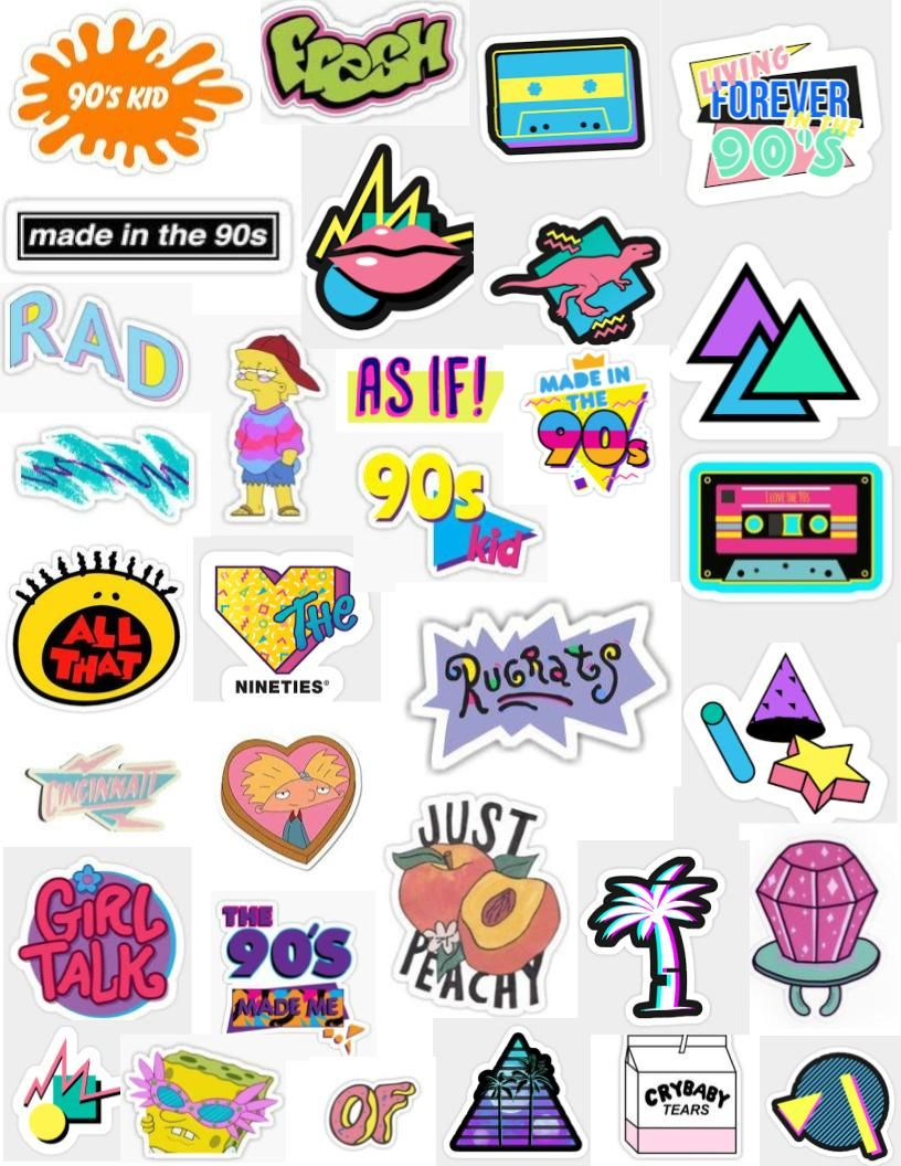 90 S Sticker Pack Sticker By Lauren53103 In 2020 Tumblr Stickers Iphone Case Stickers Aesthetic Stickers
