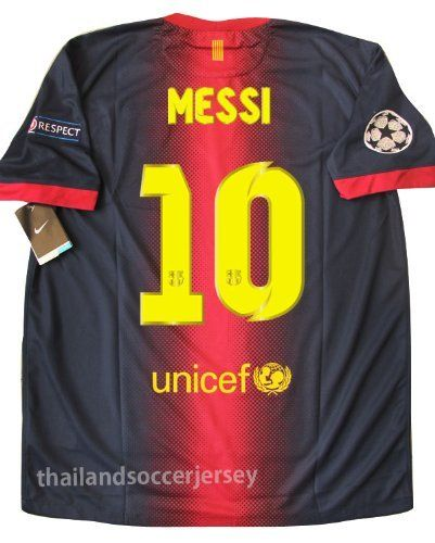 ff7a639d785 New 12-13 Fc Barcelona Home Football Shirt Messi Lionel #10 Soccer Jersey  UCL