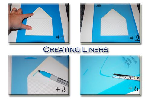 Creating Your Own Template For Envelop Liners I Just Used An Old