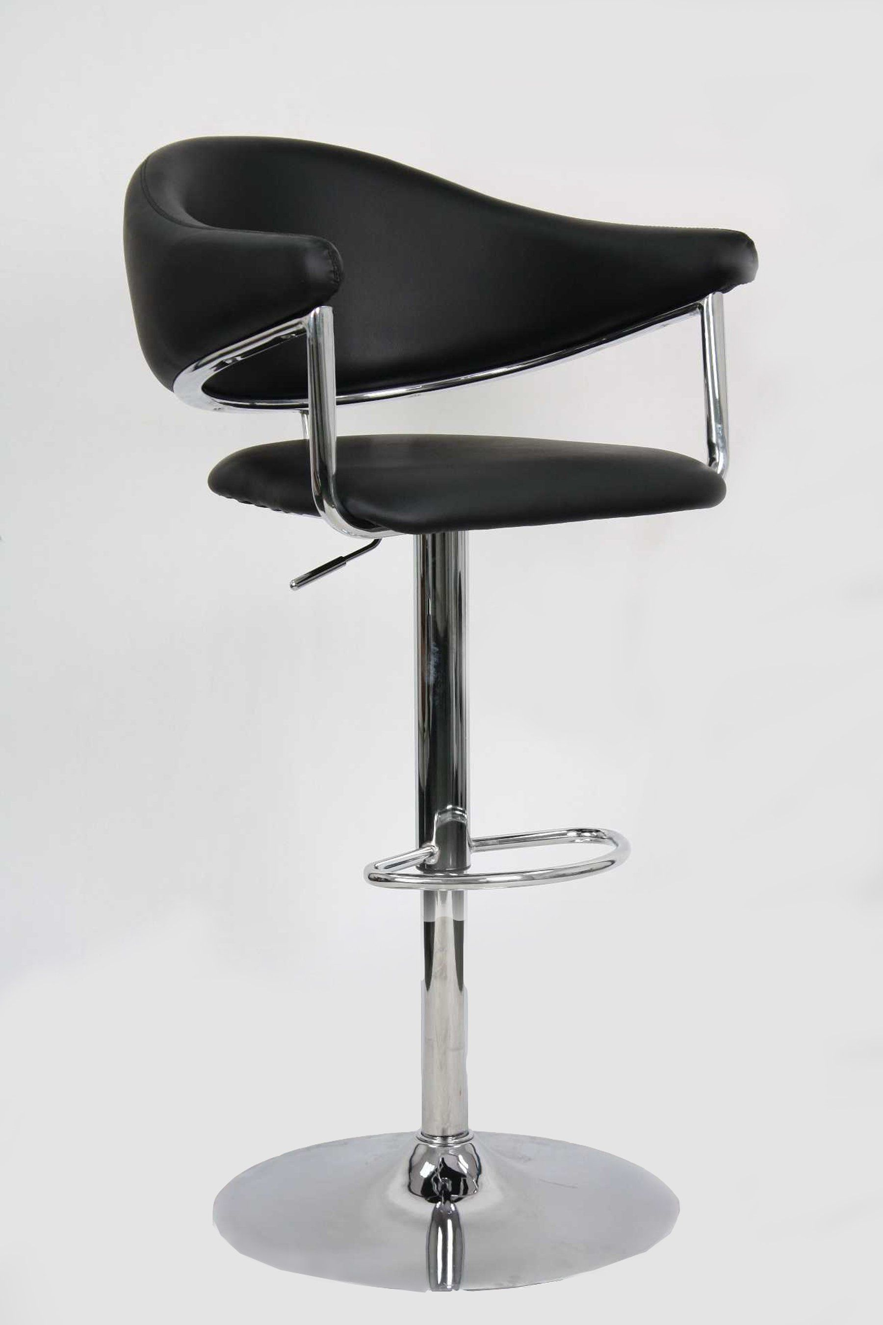 Black Adjustable Counter Height Stool Airstream In 2020