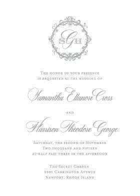 Prima Letterpress Wedding Invitation