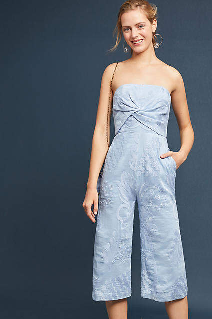 8889d3b91744 Aijek Natalie Embroidered Wide-Leg Jumpsuit