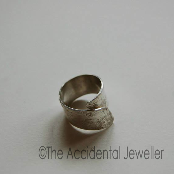 Stamped Adjustable Silver Ring #jewellery #jeweller #silver #handmade