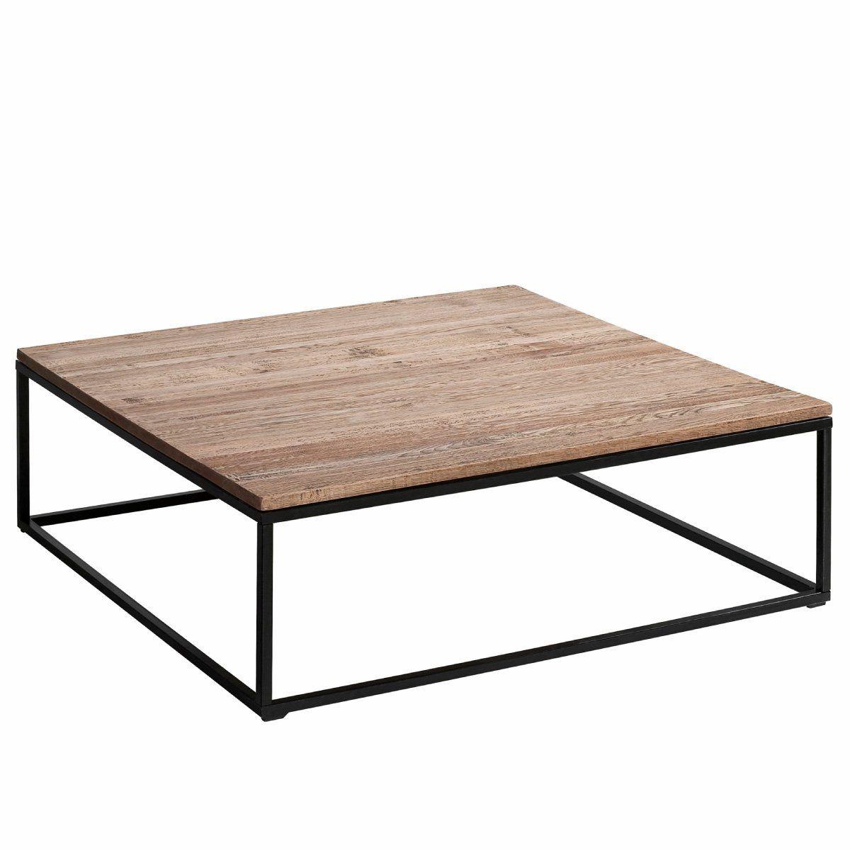 Table Basse Chene Et Metal Aranza 2 Tailles Am Pm La Redoute
