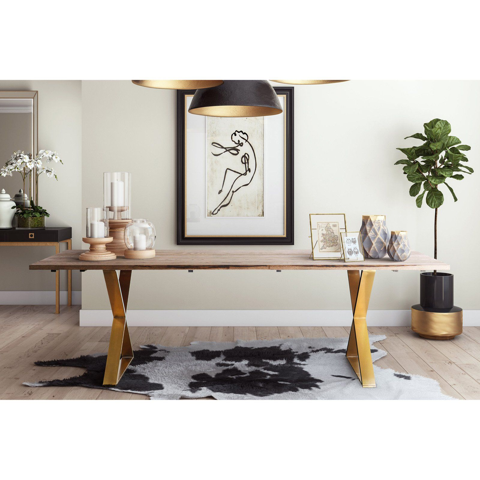 Tov Furniture Leah Dining Table Dining Table Modern Dining