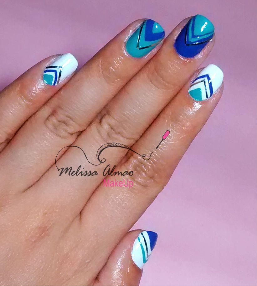 Chevron y Striping tape   Nail art   Pinterest   Diseños de uñas ...
