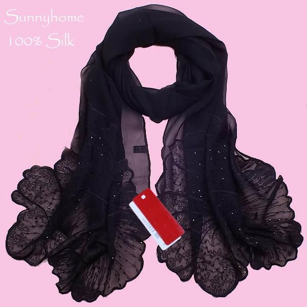 Click To Buy 100 Silk Bandanas For Muslim Arabic Foulard Womens Scarfs Fashionable 2015 Wholesale Summer Sil Long Silk Scarf Womens Scarves Silk Jewelry