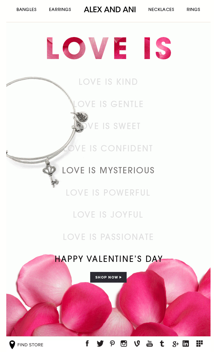 Alex Ani Valentine S Day Email Subject Line Truly Madly Deeply
