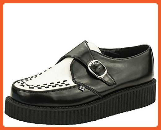c56596effa7c8 T.U.K. Original Footwear Viva Low Buckle Creeper,Black and White ...
