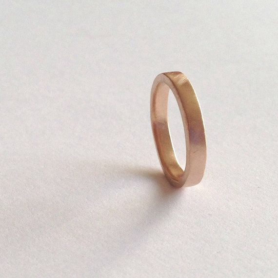Rose Gold Plain Wedding Ring