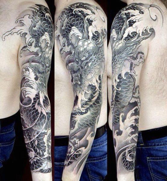 100 Dragon Sleeve Tattoo Designs For Men Fire Breathing Ink Ideas Dragon Sleeve Tattoos Tattoo Sleeve Designs Sleeve Tattoos