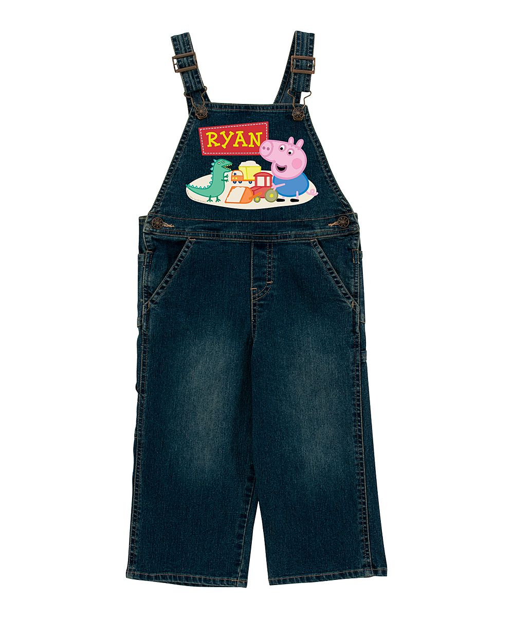 de5074eef Peppa Pig George Personalized Overalls - Infant Toddler & Boys ...