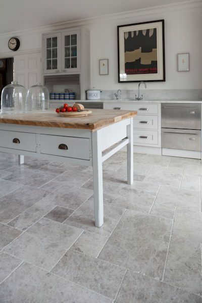 Marble Kitchen Floor Island With Oven Tundra Tumbled In 2019 Decor And Houses Flooring An Antique Finish A Random Layout Mandarin Stone