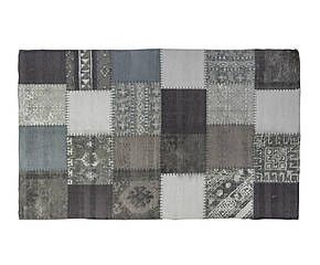 Tappeto patchwork in cotone Joint grigio 120x180 cm