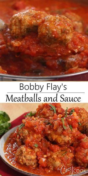 Bobby Flay's Italian Meatball Recipe - The Cozy Co