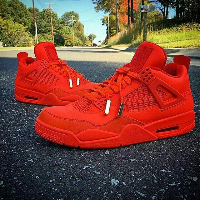 Would you rock an all red AJ4 custom?