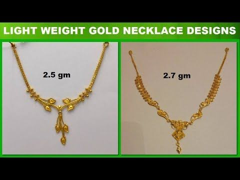 f965a8e4ab343 Latest light weight gold necklace designs gold necklace for women ...