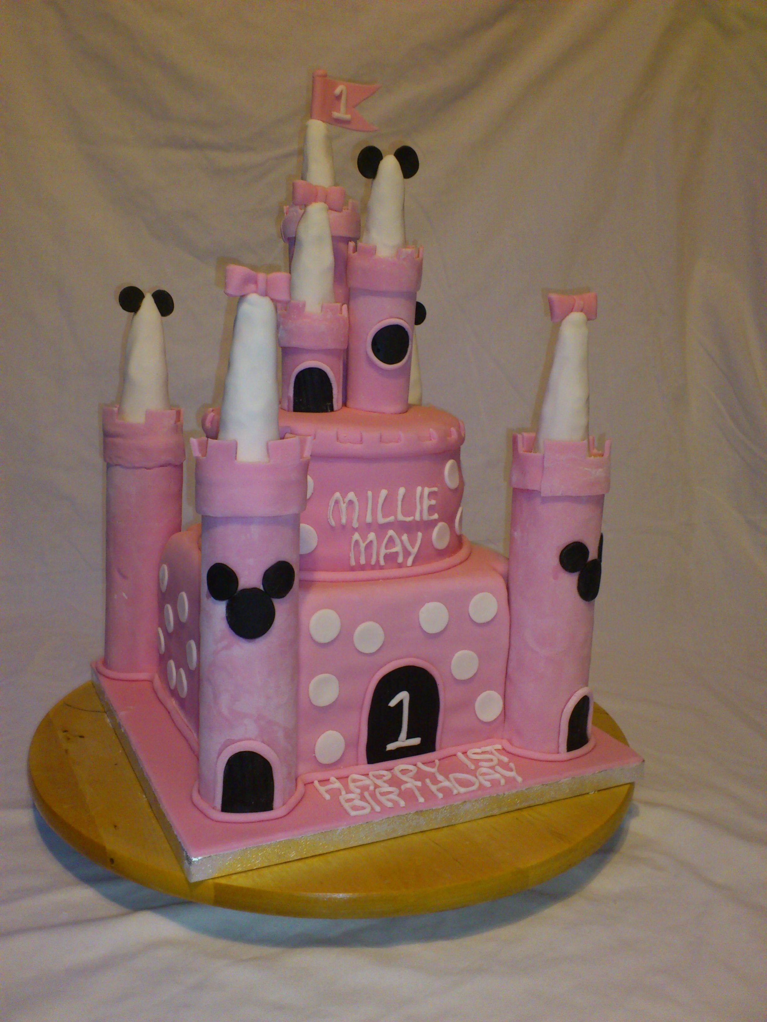 Giant birthday castle cake