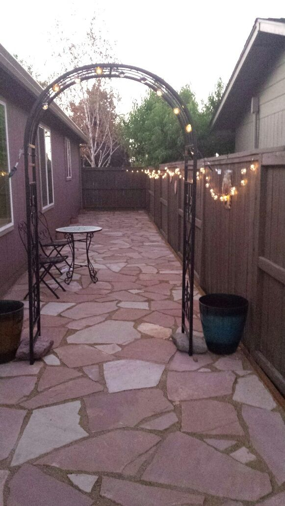 Flagstone Side Yard Used Decomposed Granite And Then