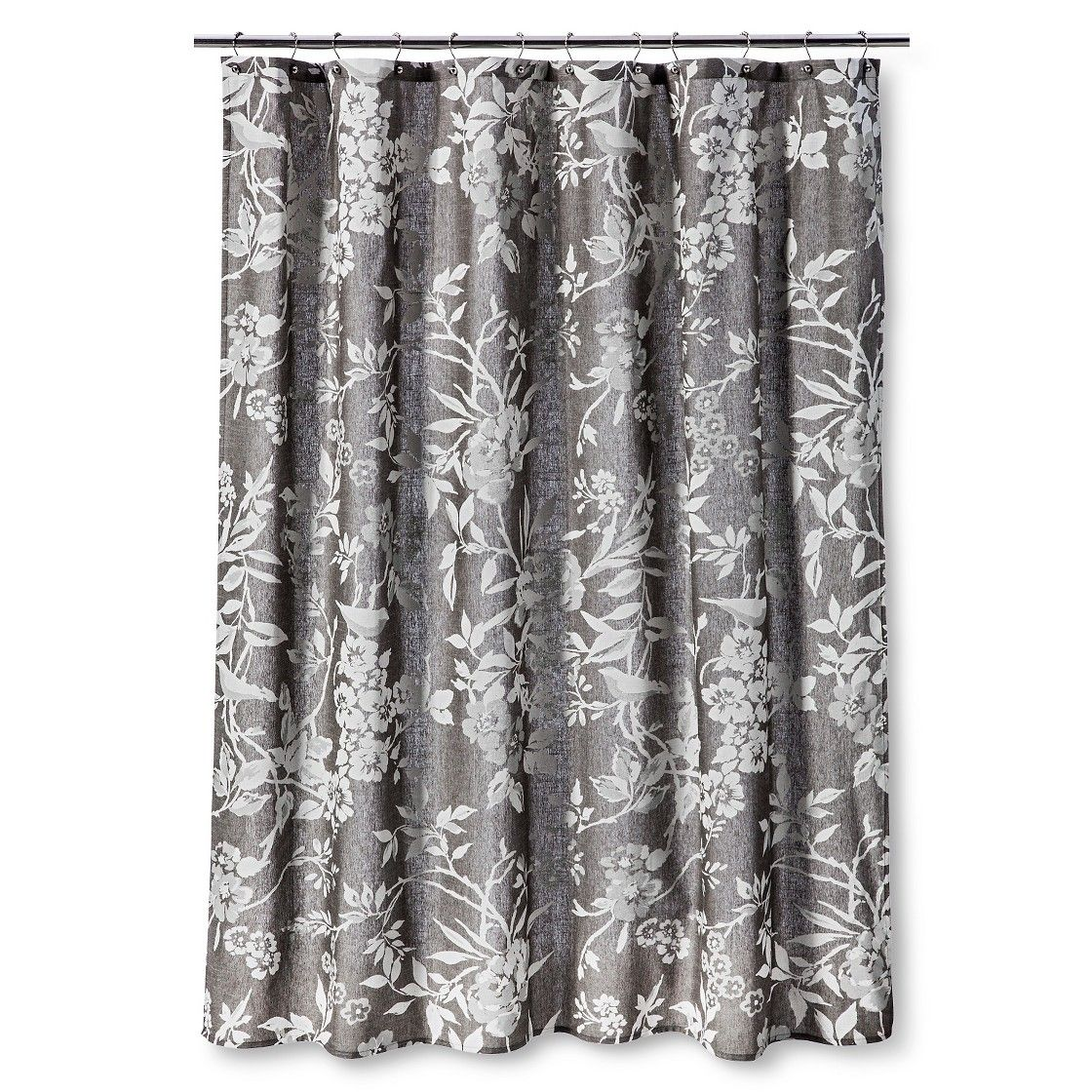 Target shower curtains threshold - Threshold Shower Curtain Gray Floral