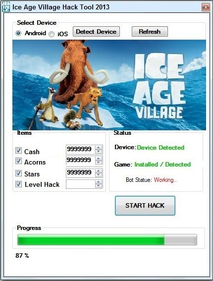 ice age village android game hack