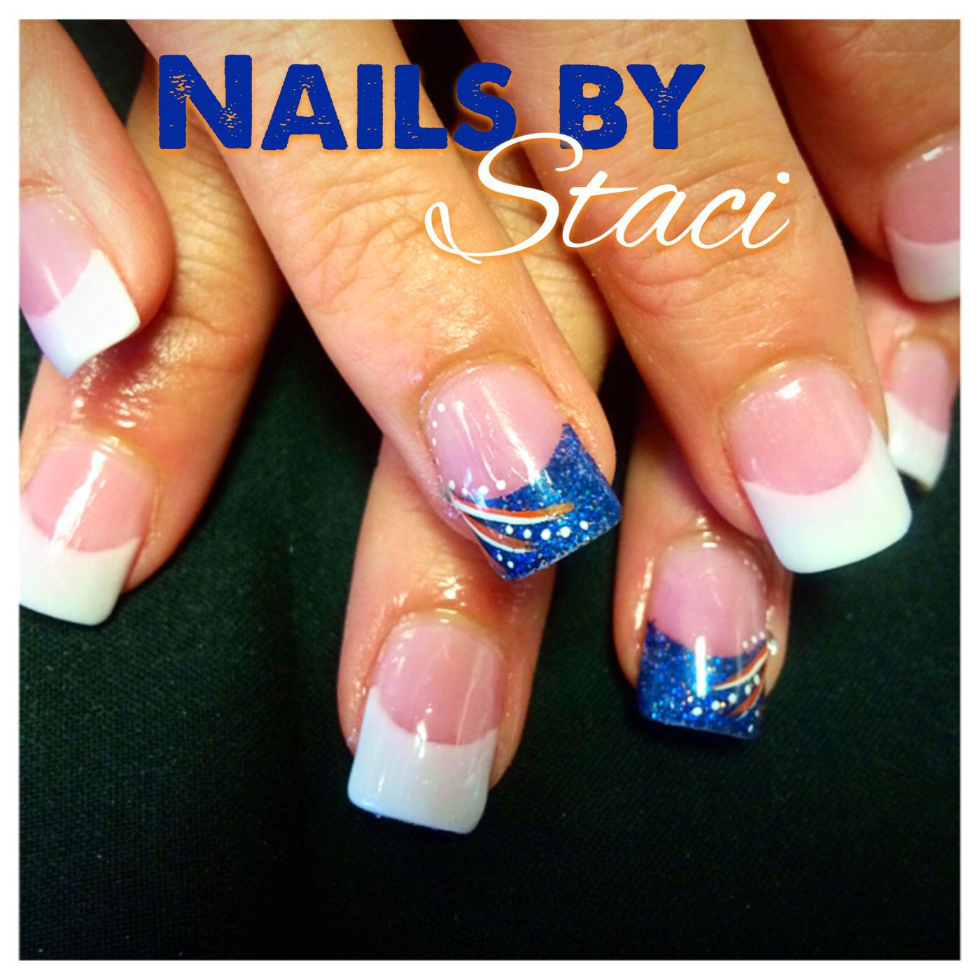 Denver bronco nails | Staci\'s Nail Artistry | Pinterest | Denver ...