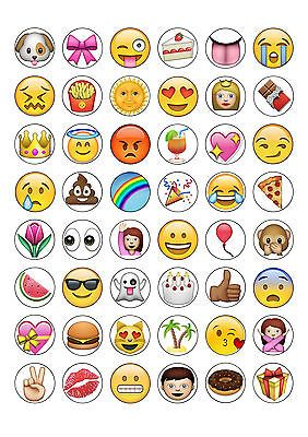 48 iphone emoji round edible cupcake fairy cake toppers cake decorating crafts emoji cupcakes emoji cupcake toppers emoji cake 48 iphone emoji round edible cupcake