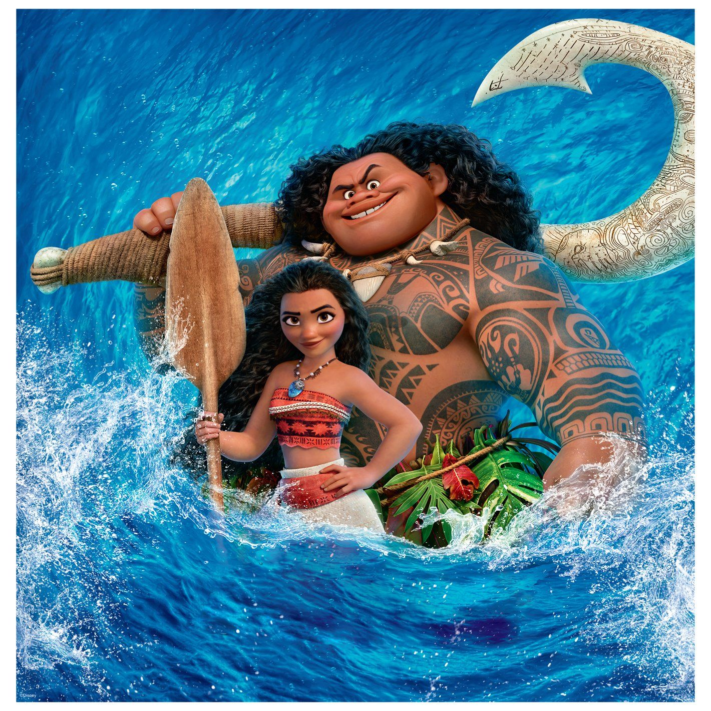 Moana: Splash Mural - Officially Licensed Disney Removable Wall Adhesive Decal Giant (39.5