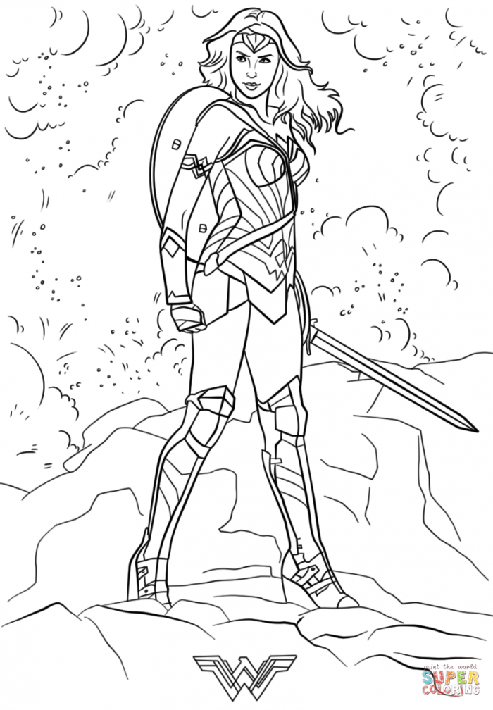 Wonder Woman Coloring Pages Wonder Woman Coloring Pages Page Simple ...