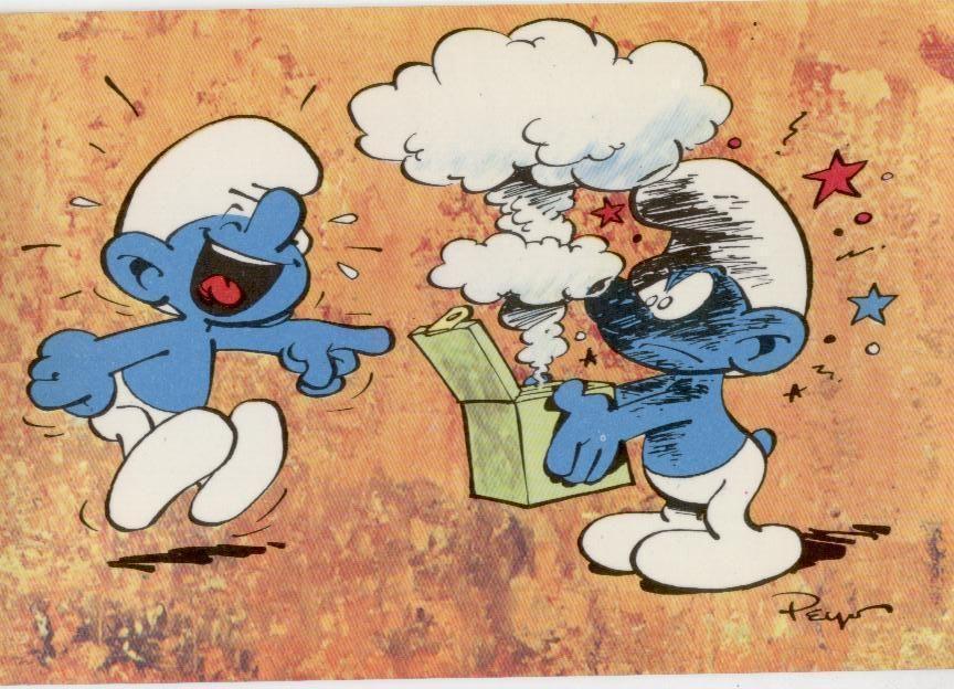 peyo le schtroumpf farceur carte postale - Schtroumpf Farceur
