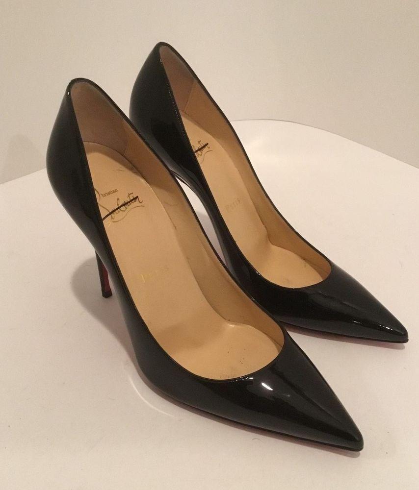 88ca1f81764 Christian Louboutin Black Patent Leather Pigalle FolliesPumps Sz 37.5