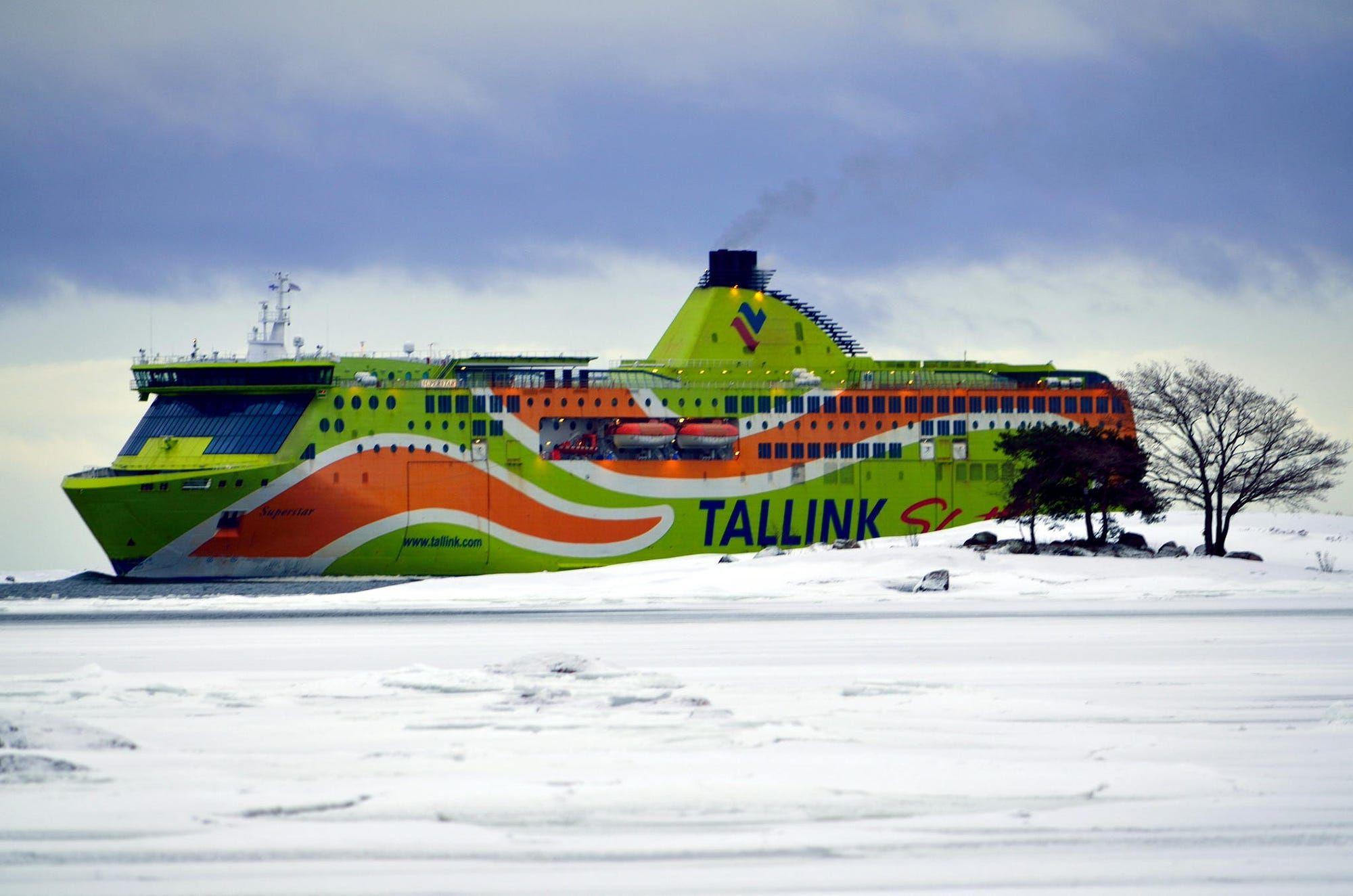 Sailing through Frozen Baltic Sea
