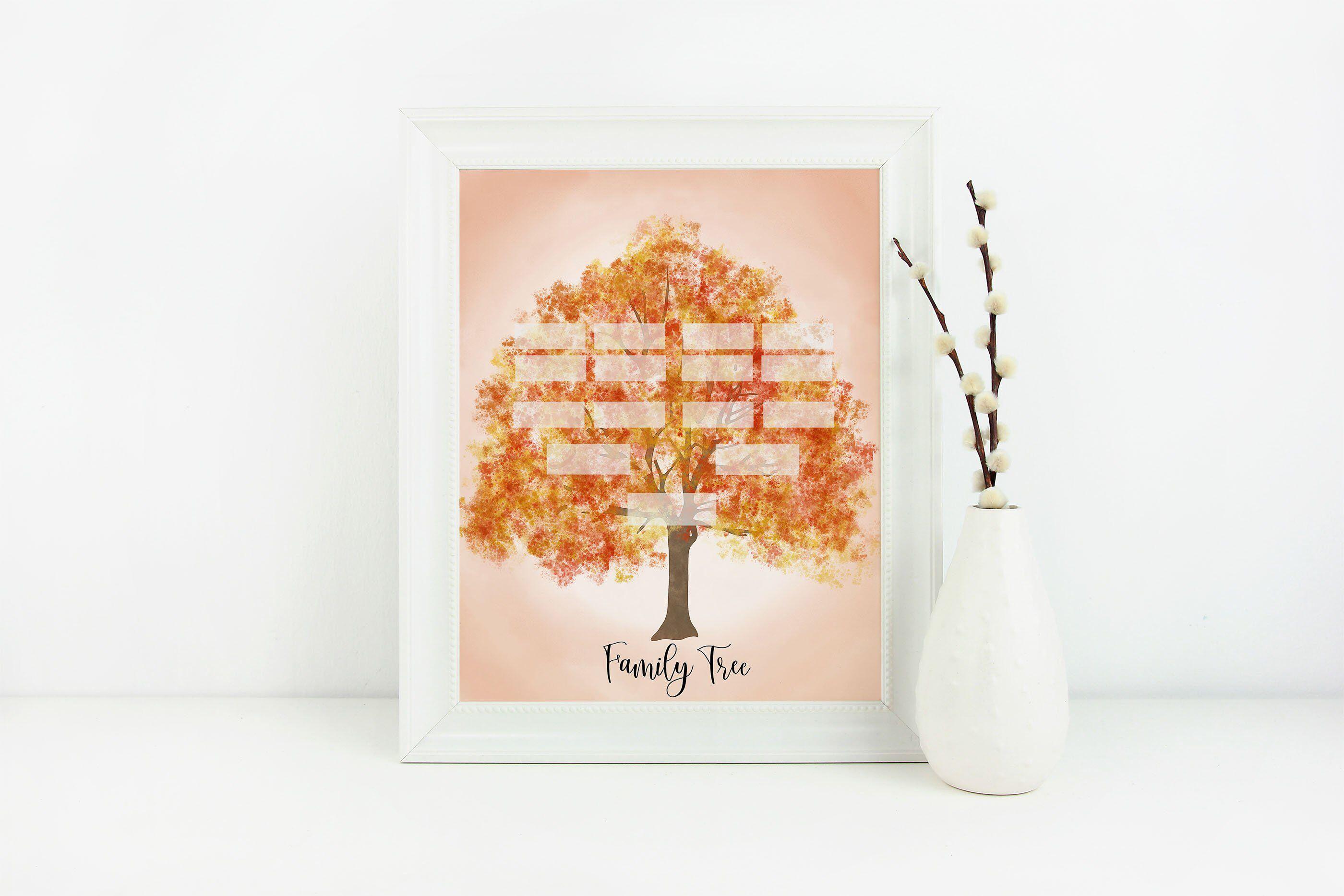 Orange Family Tree Family Tree Genealogy Family Tree