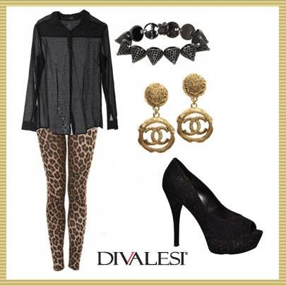 Look noite com Animal Print #fashion