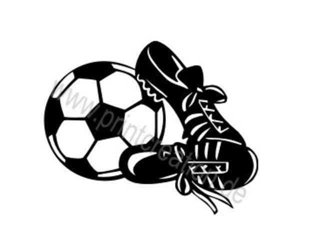 Bügelbilder - *Bügelbild/Bügelmotiv Flockfolie - Fußball* - ein Designerstück von Printcreation24 bei DaWanda