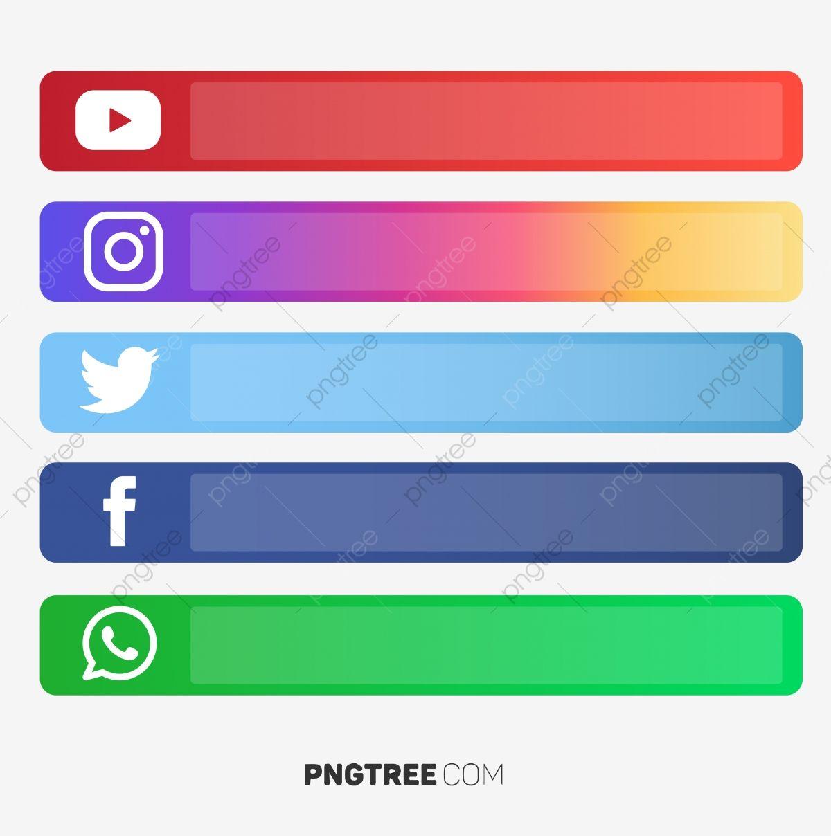 Social Media U Button Vector Social Media S Social Media Social