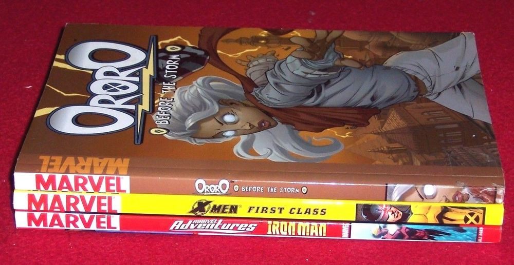 Marvel Chapter Books 3 Comics X-Men Ororo Ironman All ages
