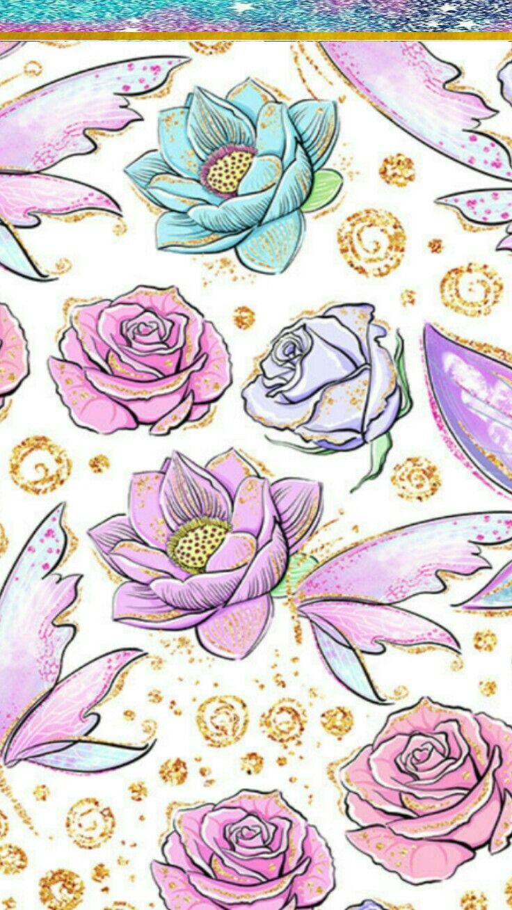 Pin by Rhonda Gilmore on Art Vintage flowers wallpaper