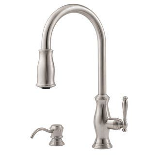 Pfister F-529-7TM Hanover Pullout Spray Professional Kitchen Faucet with Soap Dispenser (Low Lead) $269.63