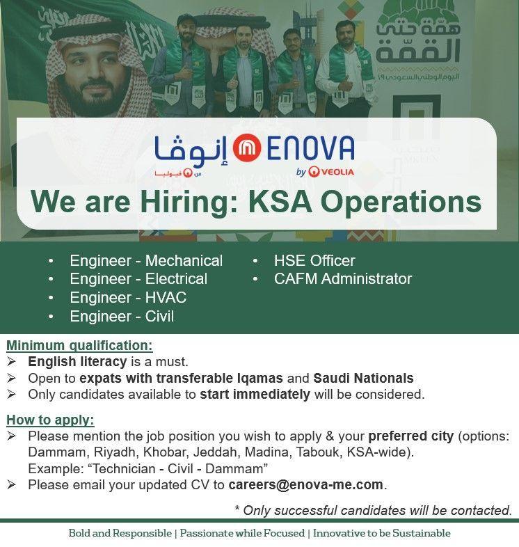 Multiple Job Openings Ksa Job Opening Job Hvac Engineer