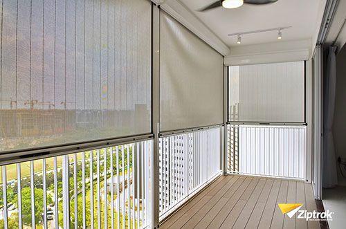 Ziptrak Singapore Zip Blinds Outdoor Balcony Curtains Amp Blinds In 2019 Outdoor Balcony