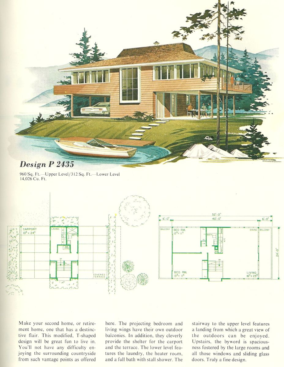 Vintage House Plans Vacation Homes 1960s Vintage House Plans House Plans Vintage House