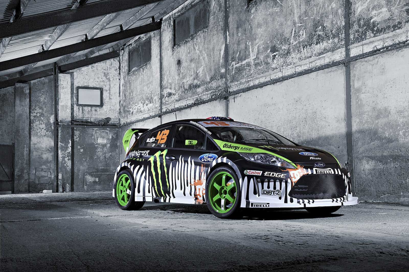 Ken Block S Ford Fiesta Rally Car Monster Car Wrap Vehikel