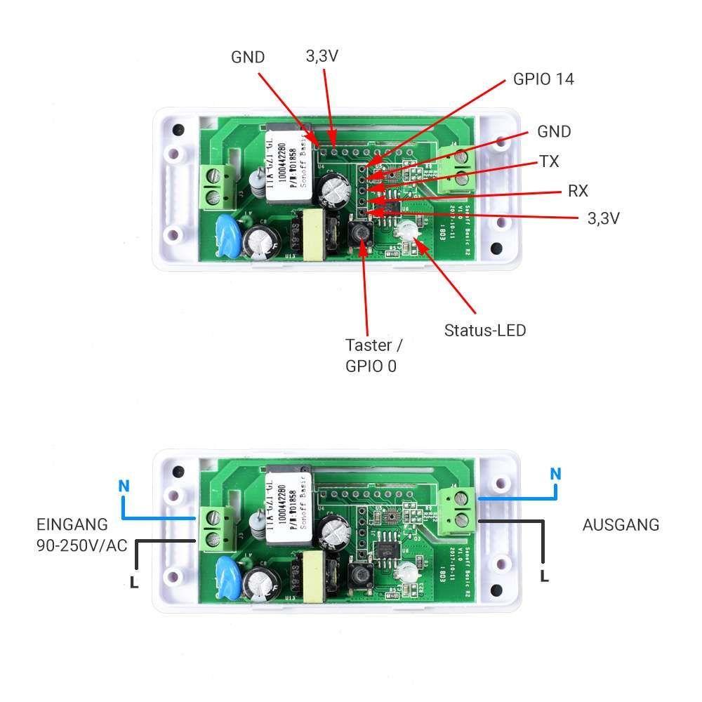 Sonoff Wifi Smart Switch With I2c Port Elektrotechnik Arduino Projekte Hausautomation