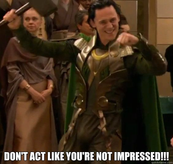 YOU CANNOT TAME THE LOKI (trying hard not to look at pants