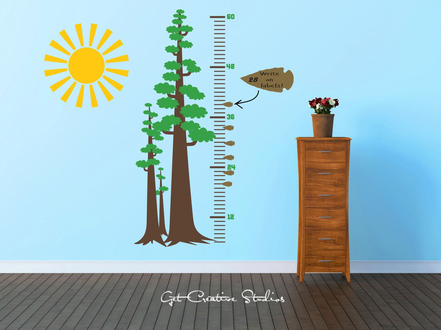 Tree growth chart decal sequoia wall decal national park tall tree growth chart decal sequoia wall decal national park tall forest decal arrowhead indian heritage decor nvjuhfo Gallery