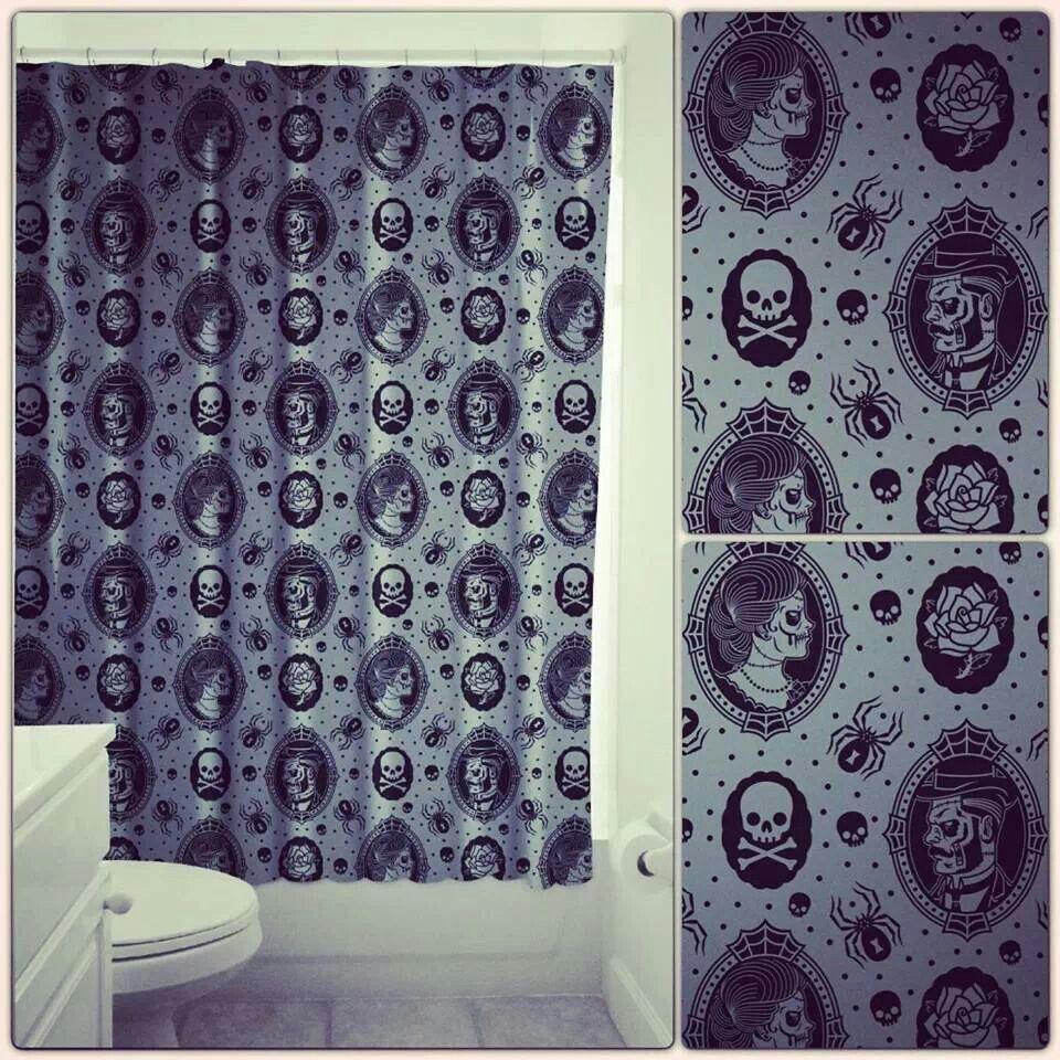 Skulls cameo shower curtain Dope Pinterest Glass doors