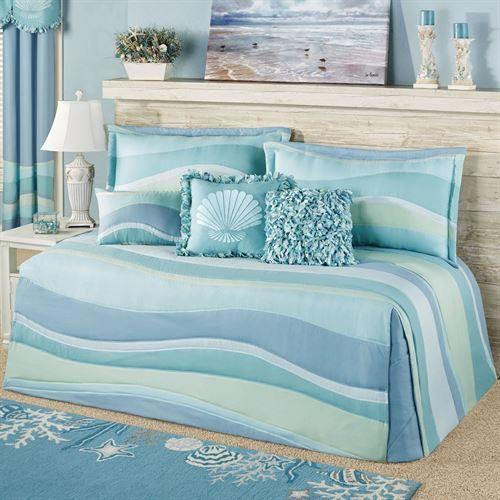 Ocean Tides Daybed Set Cerulean Blue Daybed Daybed Bedding Sets